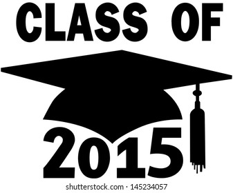 Mortar board Graduation Cap for College or High School graduating Class of 2015