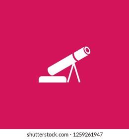 Mortar gun icon vector. Mortar gun sign on pink background. Mortar gun icon for web and app