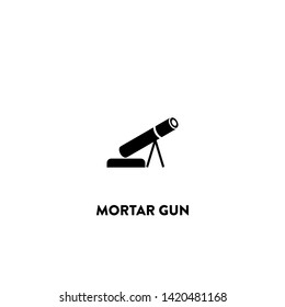 mortar gun icon vector. mortar gun sign on white background. mortar gun icon for web and app