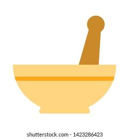 mortar pestle icon. flat illustration of mortar pestle vector icon for web
