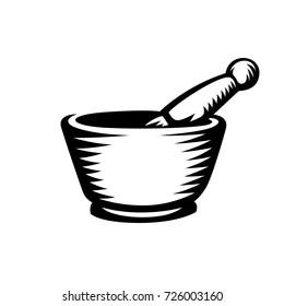 mortar and pestle illustration