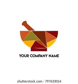 Mortar and Pestle Restaurant Logo