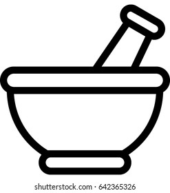Mortar Pestle Vector Icon
