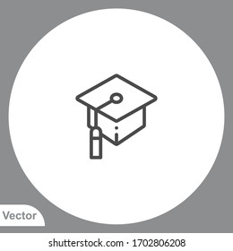 Mortarboard icon sign vector,Symbol, logo illustration for web and mobile