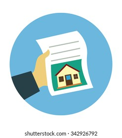 Mortgage Application Form Colored Vector Illustration