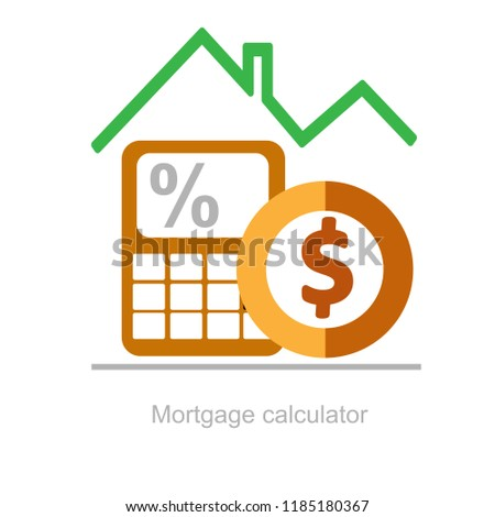 mortgage calculator down payment annuity mortgage stock vector