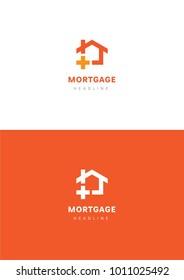 Mortgage logo template.