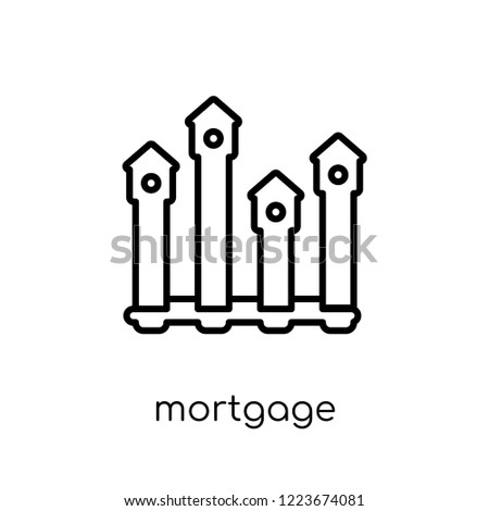 Mortgage Statistics Icon Trendy Modern Flat Stock Vector (Royalty