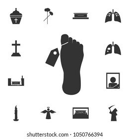Mortuary vector icon. Detailed set of death icons. Premium quality graphic design. One of the collection icons for websites, web design, mobile app on white background