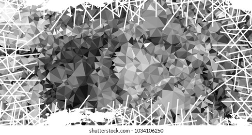 Mosaic abstract background with grunge white border. Copy space. Vector clip art.