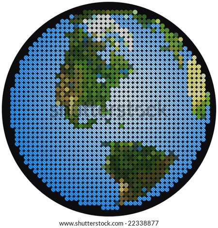 mosaic earth cross hatching stock vector royalty free 22338877