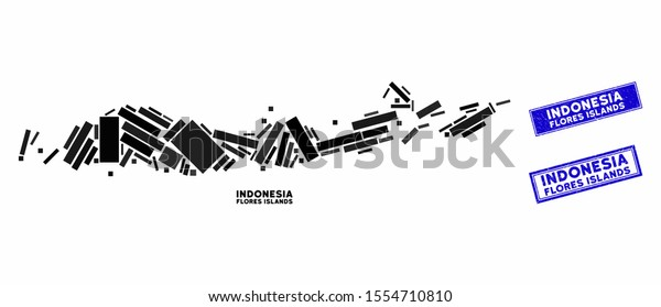 mosaic flores islands indonesia map rectangular stock vector royalty free 1554710810 shutterstock