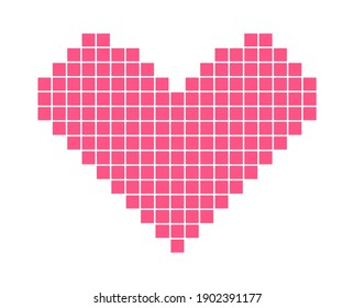The Mosaic of Heart. Isolated Vector illustration