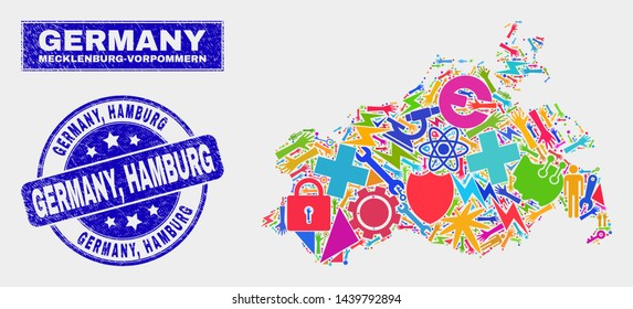 Map Of Germany Hamburg.Hamburg Map Vector Images Stock Photos Vectors Shutterstock