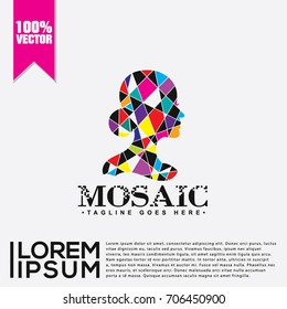 Mosaic Logo Vector