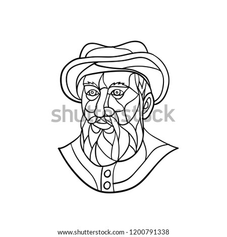 b1b9d886b88f0 Mosaic Low Polygon Style Illustration Old Stock Vector (Royalty Free ...