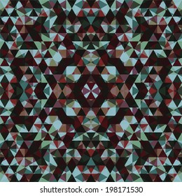 Mosaic pattern of triangles