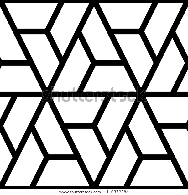 Mosaic. Polygons. Jagged figures ornament. Repeated puzzle shapes background. Logic game motif. Tiles wallpaper. Parquet backdrop. Digital paper grate, web design, textile print. Seamless grid pattern