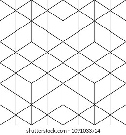 Mosaic. Rhombuses, hexagons, triangles, lozenges, diamonds. Grid. Ancient ethnic motif. Geometric grate wallpaper. Parquet backdrop. Digital paper, web design, textile print. Lozenges. Seamless vector
