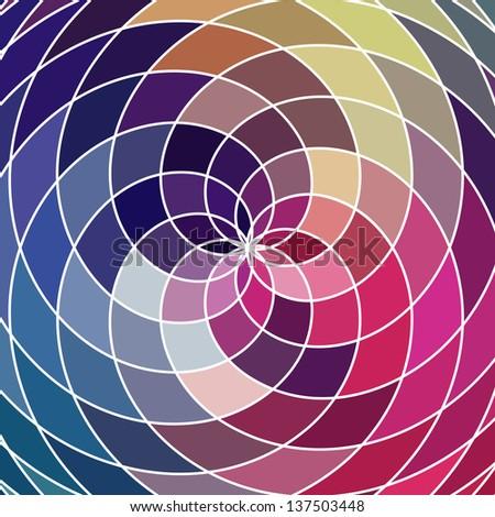 Mosaic Spectrum Color Wheel Made Geometric Stock Vector Royalty