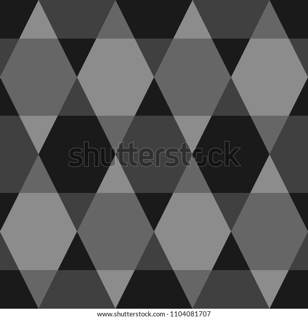 Mosaic. Triangles, hexagons ornament. Grid background. Ethnic tiles motif. Geometric grate wallpaper. Parquet backdrop. Digital paper, page fills, web design, textile print. Seamless vector abstract.