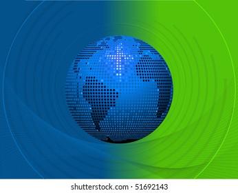 mosaic world globe background