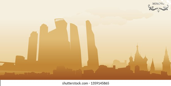 moscow abstract vector illustration