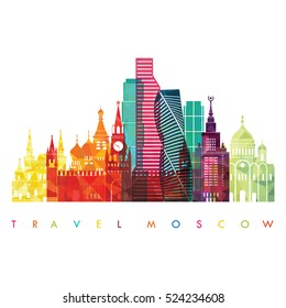 Moscow detailed skyline . Vector illustration
