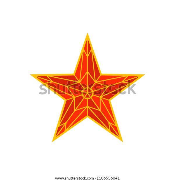 Moscow Kremlin red star. Spasskaya tower of the Kremlin on red square in Moscow, Russia. Russian national landmark in flat style. Vector illustration