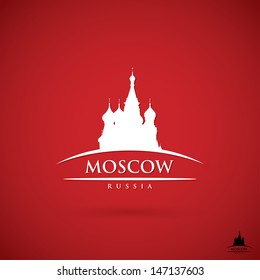 Moscow label - vector illustration