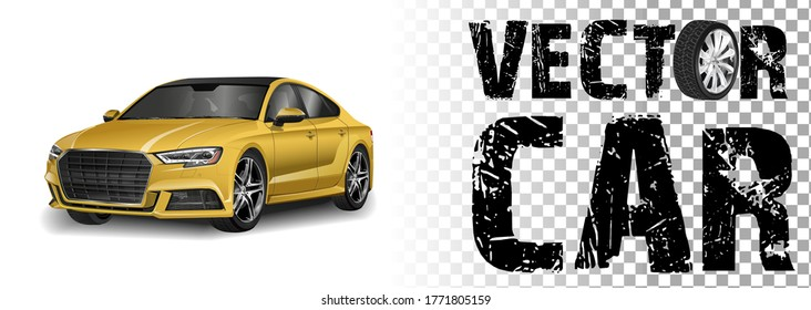 MOSCOW, RUSSIA - SEPTEMBER 1: Audi A8 vector illustration September 1, 2010 in Moscow, Russia. luxury automobile isolated on white background