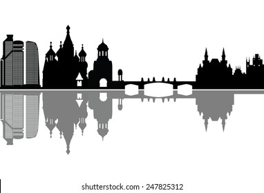 moscow russian capitol skyline