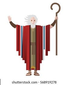 moses with his miracles staff