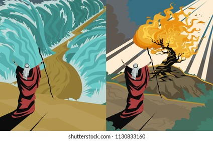 moses two scenes