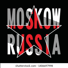 moskow typography for printing tee shirt design graphic, vector illustration urban young generation