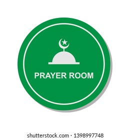 Moslem Prayer Room Icon. Islamic Worship Element Illustration As A Simple Vector, Trendy Sign & Symbol for Design and Websites, Presentation or Application.