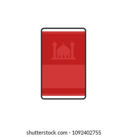 Moslem Prayer rugs simple flat icon for Ramadan