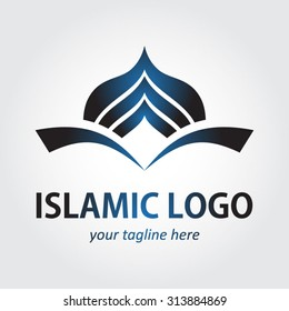mosque business logo design, corporate identity elements.