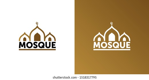mosque. dome of the mosque abstract symbol. vector design logotype.