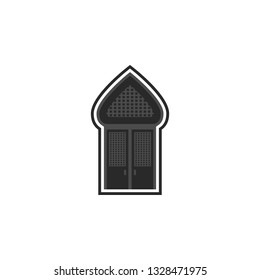 Mosque, door, icon in trendy flat style isolated on white background. Door symbol for your web site design, logo, app, UI. Vector illustration, EPS10. - Vector
