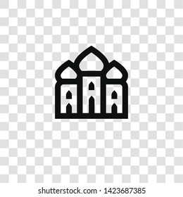 mosque icon from miscellaneous collection for mobile concept and web apps icon. Transparent outline, thin line mosque icon for website design and mobile, app development
