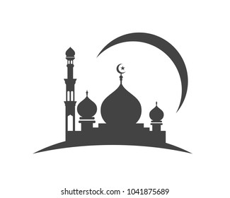Similar Images Stock Photos Vectors Of Mosque Icon Vector Illustration Design Template 1041875680 Shutterstock