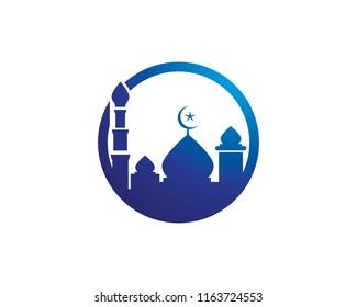 Mosque icon vector template