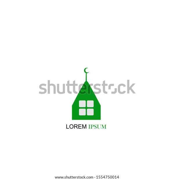 mosque islam logo icon flat modern stock vector royalty free 1554750014 shutterstock