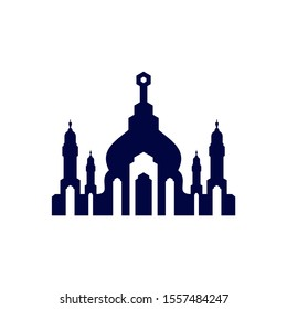 Mosque Logo Design Vector Template. Mosque Icon Symbol. Abstract Illustration