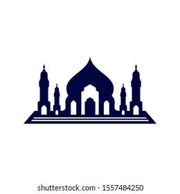 Mosque Logo Design Vector Template. Mosque Icon Symbol. Abstract Illustration