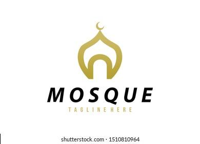 mosque logo icon vector isolated