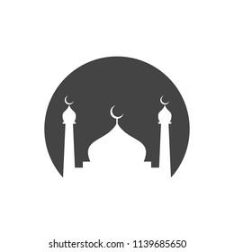 Mosque Logo Vector. Islamic Icon