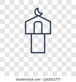 Mosque and Minaret icon. Trendy Mosque and Minaret logo concept on transparent background from Religion-2 collection