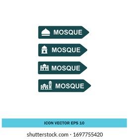 mosque sign icon vector eps 10